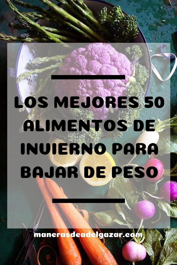 Los Mejores 50 Alimentos de Invierno Para Bajar de Peso