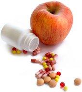 Pastillas para adelgazar y manzana