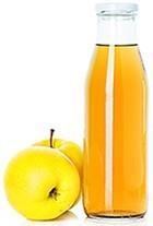 Vinagre de sidra de manzana y manzanas