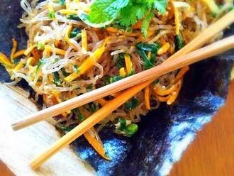 Fideos de algas asiáticas