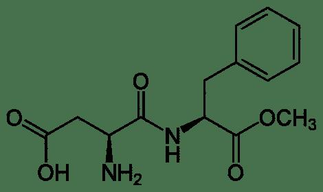 Estructura química del aspartamo