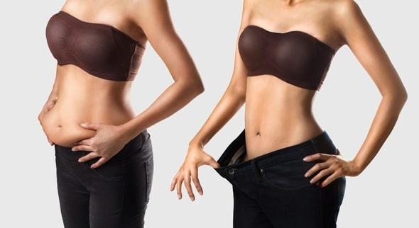 Comparación de grasa abdominal y vientre plano