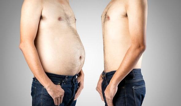 Grasa del vientre vs. Vientre plano