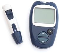 Medidor de glucosa en sangre y punzón para diagnóstico