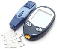 Tiras y medidor de glucosa en sangre