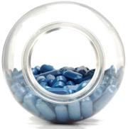 Botella con pastillas azules