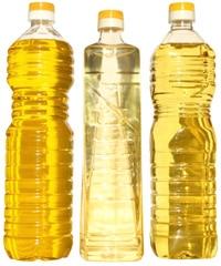 Botellas de aceite vegetal