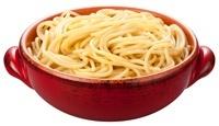 Cuenco de espaguetis cocidos