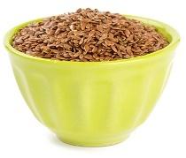 Cuenco de semillas de lino