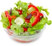 Cuenco de ensalada fresca