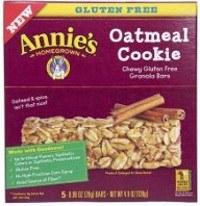 Caja de barras de galleta sin gluten