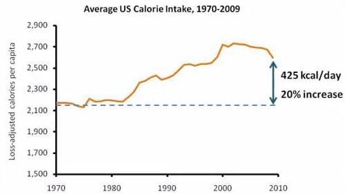 Ingesta de calorías en EE. UU.