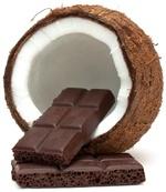 Losa de coco y chocolate amargo