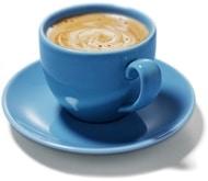 Café en una taza azul