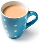 Taza de té con leche