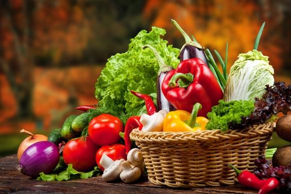 Diferentes tipos de verduras