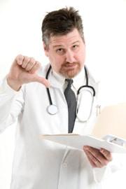 Doctor pulgares hacia abajo