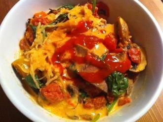 Sopa de curry rojo fácil