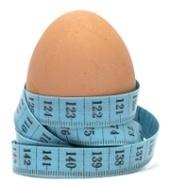 Huevo y cinta métrica