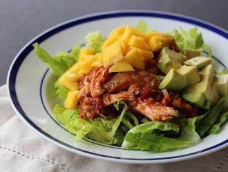 Ensalada Enchilada De Pollo Y Mango
