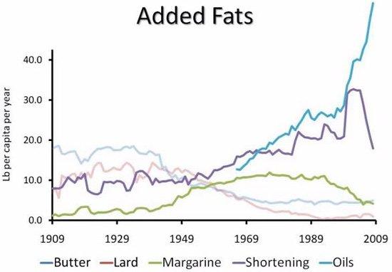 Consumo de grasas en EE. UU.