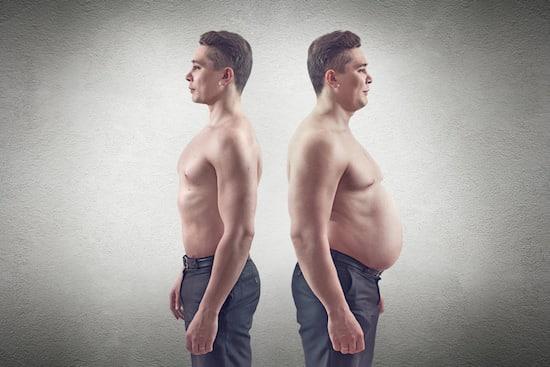 Hombre gordo vs flaco