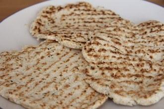 Harina de coco y psyllium de pan plano