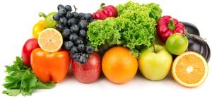 Uvas, Manzanas, Naranjas y Verduras