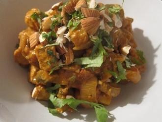 Curry amarillo de pavo sobrante