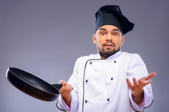 Chef masculino, no estoy seguro de qué hacer