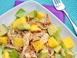 Ensalada De Pollo Con Especias De Mango, Aguacate