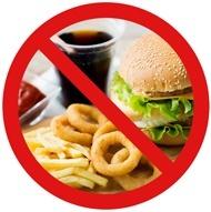 No se permite comida chatarra