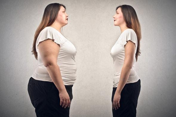 Mujer obesa vs delgada