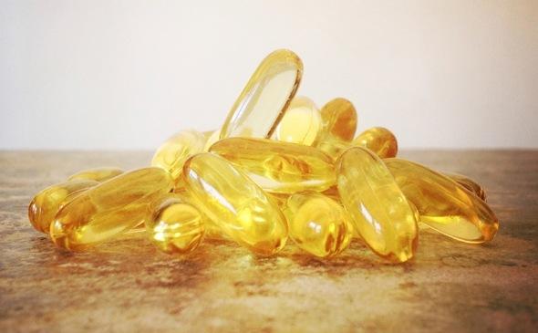 Cápsulas de omega-3 de cerca