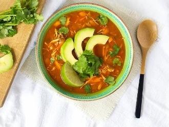 Sopa Paleo De Tortilla De Pollo