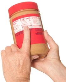 Ingredientes de mantequilla de maní