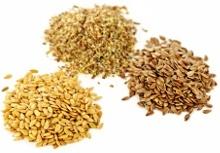 Montones de semillas de lino