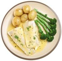 Plato de Pescado, Patatas y Brócoli