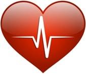 Corazón rojo, concepto de salud