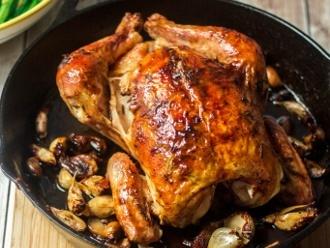 Pollo Asado con 40 Dientes de Ajo