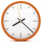 Reloj Naranja Redondo