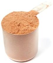 Cucharada de proteína en polvo