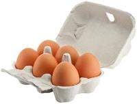 Seis huevos en una caja