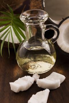 Botella pequeña de aceite de coco fraccionado