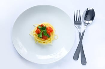 Plato pequeño de pasta