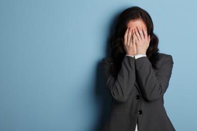Empresaria estresada