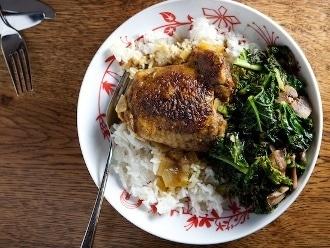 Pollo con cúrcuma