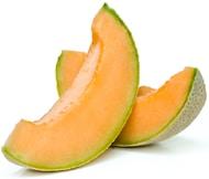 Dos rodajas de melón cantalupo