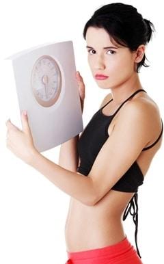 Mujer con bajo peso