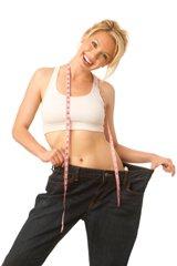 Mujer que ha perdido peso